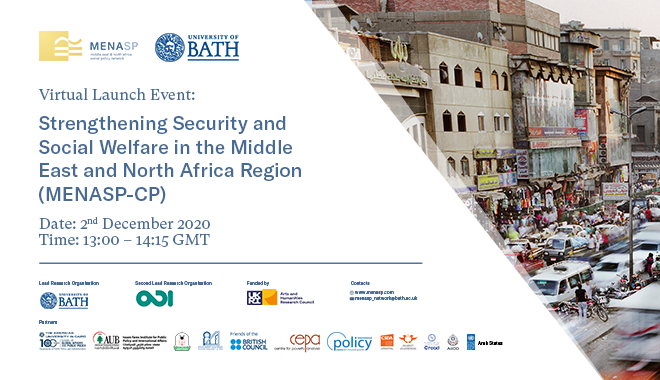 Virtual Launch Event: Strengthening Security and Social Welfare in the MENA region
