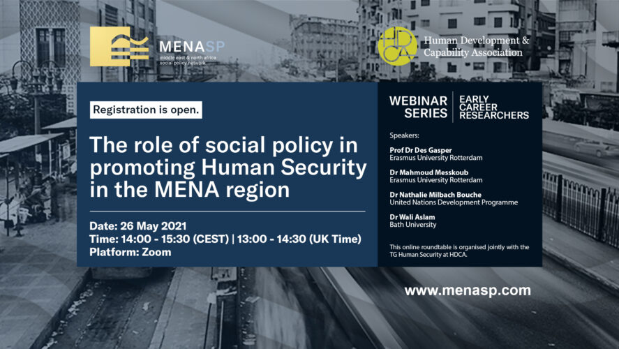 ECR Webinar: The Role of Social Policy in Promoting Human Security in the MENA Region