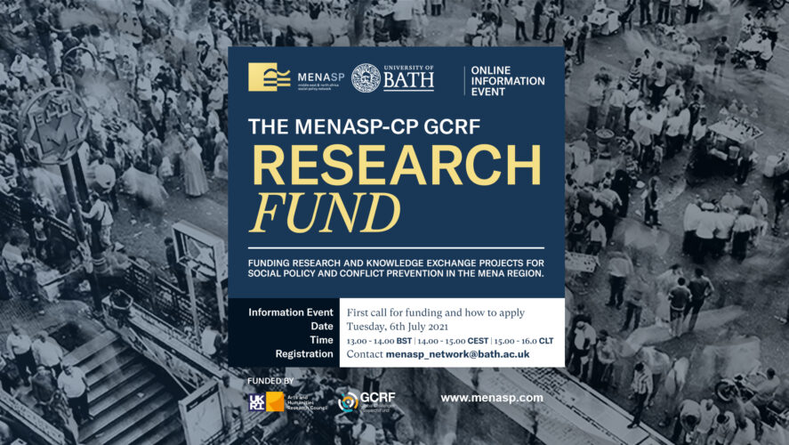 Info Event: MENASP-CP GCRF Research Fund (How to apply?)
