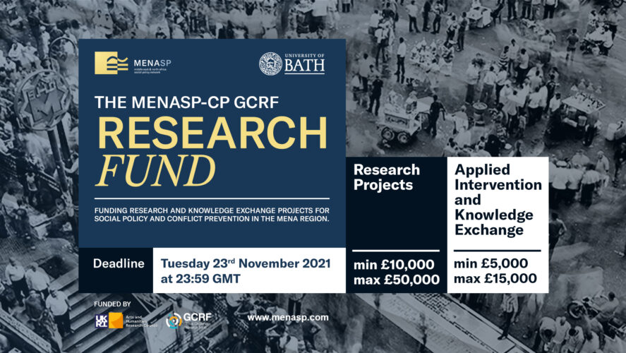 1st Round MENASP-CP GCRF Research Fund is Now Open
